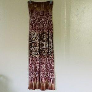 Long Tube top maxi dress. Stretchy material.
